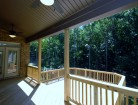 Covered Rear Porch and Large Open Deck  New Homes in Charlotte